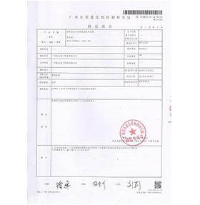DP产品检测报告